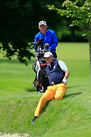 Jon Bevan (Sherbome GC) playing his ball in the bunker face on the 18th during Round 1 of the Titleist &amp; Footjoy PGA Professional Championship at Luttrellstown Castle Golf &amp; Country Club on Tuesday 13th June 2017.<br /> Photo: Golffile / Thos Caffrey.<br /> <br /> All photo usage must carry mandatory copyright credit     (&copy; Golffile | Thos Caffrey)