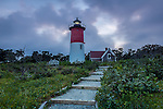Nauset Light, Cape Cod National Seashore, Eastham, Massachusetts, USA