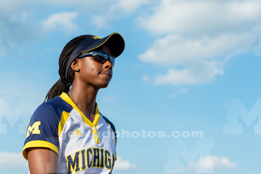 The University of Michigan women's softball team;1-0 victory over University of Florida, in Game 2 in the Championship series of the Women's College World Series held at the ASA Hall of Fame Stadium in Oklahoma City,Okla. on 6/02/15.