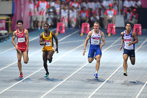 Shuhei Tada (JPN), <br /> AUGUST 24, 2017 - Athletics<br /> : The 29th Summer Universiade 2017 Taipei <br /> Men's 100m Final <br /> at Taipei Stadium, Taipei, <br /> Taiwan. (Photo by MATSUO.K/AFLO SPORT)