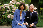 """Winston Churchill British politician with his first wife Mary """"Minnie"""" Caroline d'Erlanger. Broadwater House Chailey Sussex   Uk 1986"""