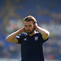 Ipswich Town's Gwion Edwards during the pre-match warm-up <br /> <br /> Photographer Hannah Fountain/CameraSport<br /> <br /> The EFL Sky Bet Championship - Ipswich Town v Swansea City - Monday 22nd April 2019 - Portman Road - Ipswich<br /> <br /> World Copyright © 2019 CameraSport. All rights reserved. 43 Linden Ave. Countesthorpe. Leicester. England. LE8 5PG - Tel: +44 (0) 116 277 4147 - admin@camerasport.com - www.camerasport.com