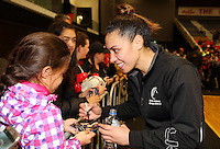 17.09.2016 Action during the Taini Jamison netball match between the Silver Ferns and Jamaica played at the Energy Events Centre in Rotorua. Mandatory Photo Credit ©Michael Bradley.