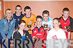 Front row l-r: Sarah O'Connor, Shane O'Connor, Niamh O'Connell. Back row: Mag O'Connor, Paul White, Robert O'Brien, Timothy O'Connell and Eoin Murphy the team that won the Garda/KDYS u15 basketball tournament in Castleisland Community Centre Good Friday