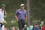 AUGUSTA, GA - APRIL 12: Phil Mickelson walks off the teebox with his caddie during the Second Round of the 2013 Masters Golf Tournament at Augusta National Golf Club on April 10in Augusta, Georgia. (Photo by Donald Miralle) *** Local Caption ***