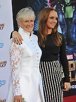 Glenn Close &amp; daughter Annie Maude Starke at the world premiere of Glenn's movie &quot;Guardians of the Galaxy&quot; at the El Capitan Theatre, Hollywood.<br /> July 21, 2014  Los Angeles, CA<br /> Picture: Paul Smith / Featureflash