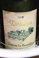 Cuvee Tentation 2007 chateau le bourdillot graves bordeaux france