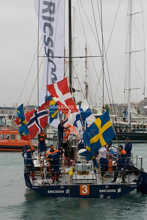 ERICSSON 3 .Ericsson Racing Team - Volvo Ocean Race leg 1 start in Alicante, Spain 11/10/2008 VOLVO OCEAN RACE 2008-2009