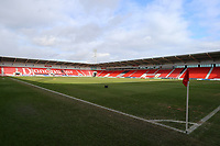 General View of the Keepmoat Stadium, Doncaster Rovers prior to kick off in during the Sky Bet League 1 match between Doncaster Rovers and Fleetwood Town at the Keepmoat Stadium, Doncaster, England on 17 February 2018. Photo by Leila Coker / PRiME Media Images.