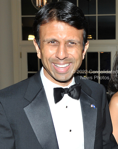 Washington, D.C. - November 24, 2009 --  Governor Bobby Jindal of Louisiana arrives for the State Dinner in honor of  Dr. Manmohan Singh, Prime Minister of India at the White House in Washington, D.C. on Tuesday, November 24, 2009..Credit: Ron Sachs / CNP.(RESTRICTION: NO New York or New Jersey Newspapers or newspapers within a 75 mile radius of New York City)