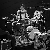 Steve Distanislao on drums with Crosby, Stills & Nash at the Olympia in Paris, France.