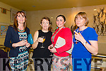 Enjoying theBallybunion Fashion Show in aid of  St Joseph's Secondary school at Tintean Theatre on Thursday were Lorraine Sheehan, Regina Murphy, Laura Ross and Margaret Ross