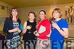 Enjoying theBallybunion Fashion Show in aid of  St Joseph's Secondary school at Tintean Theatre on Thursday were Lorraine Sheehan, Regina Murphy, Laura Ross and Margaret Ross