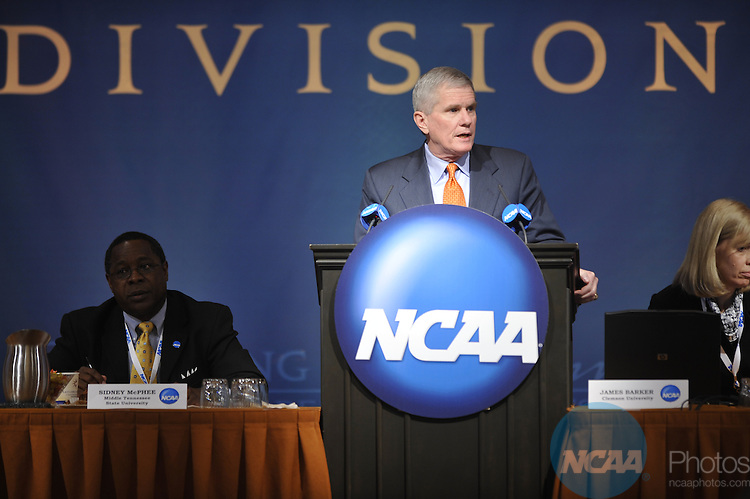 16 JAN 2009: The Division I Issues Forum at the 2009 NCAA Convention at the Gaylord National Resort and Convention Center in Washington D.C. Pictured: James Barker  Stephen Nowland/NCAA Photos