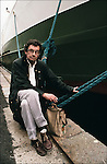 Nicolas Bouvier during book fair Etonnants Voyageurs in Saint Malo, France in 1991.