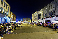 "Pictured: Locals line College Street to watch the Christmas parade in Swansea, Wales, UK. Sunday 19 November 2018<br /> Re: Swansea Christmas parade attended by thousands has been branded a ""shambles"" for having just three floats.<br /> The annual festive event in south Wales, which took place on Sunday, promised ""dynamic dance-troupes"" as well as ""spectacular shows and stages"".<br /> But the parade was scaled down, leading to a barrage of criticism on social media because of roadworks in the city centre. <br /> The leader of Swansea Council, Rob Stewart apologised on Facebook and said the parade was not ""good enough"".<br /> Parents took on social media to voice their anger, calling the event ""a load of rubbish"" and claiming there was nothing for young children apart from ""a loud music float with Santa on""."