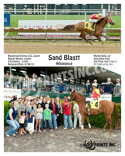 Sand Blastt winning at Delaware Park on 5/18/13