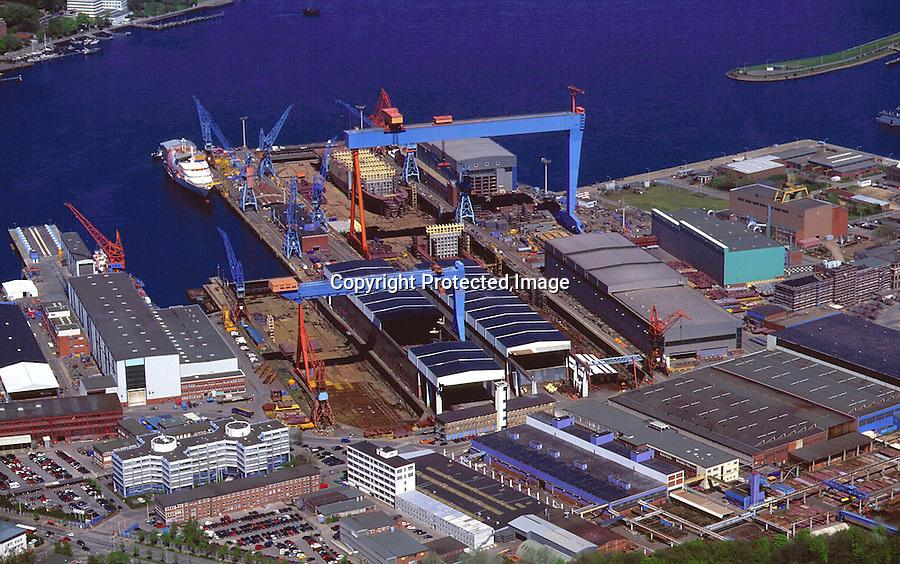 Deutschland, Schleswig- Holstein, Kiel, Werft, HDW