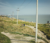 Kertsch, Krim,<br /><br />Im Mai 2018 - vier Jahre nach der Annexion der Krim - wurde die Br&uuml;cke, die das russische Festland mit der ukrainischen Halbmeerinsel verbindet, er&ouml;ffnet. / In May 2018 - four years after the annexation of the Crimea - the bridge connecting the Russian mainland with the Ukrainian peninsula was opened.