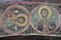 BG61227.JPG BULGARIA, BLACK SEA COAST, NESSEBAR, CHURCH OF ST STEPHAN, 10TH CENTURY, FRESCOS