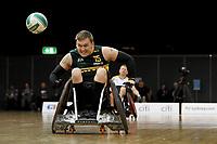 Andrew Harrison (AUS)  vs Ireland<br /> Australian Wheelchair Rugby Team<br /> 2018 IWRF WheelChair Rugby <br /> World Championship / Day 4<br /> Sydney  NSW Australia<br /> Wednesday 8th August 2018<br /> © Sport the library / Jeff Crow / APC