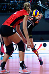 25.08.2018, …VB Arena, Bremen<br />Volleyball, LŠ&auml;nderspiel / Laenderspiel, Deutschland vs. Niederlande<br /><br />Maren Fromm (#4 GER), Annahme Lenka DŸrr / Duerr (#1 GER) / Libero<br /><br />  Foto &copy; nordphoto / Kurth