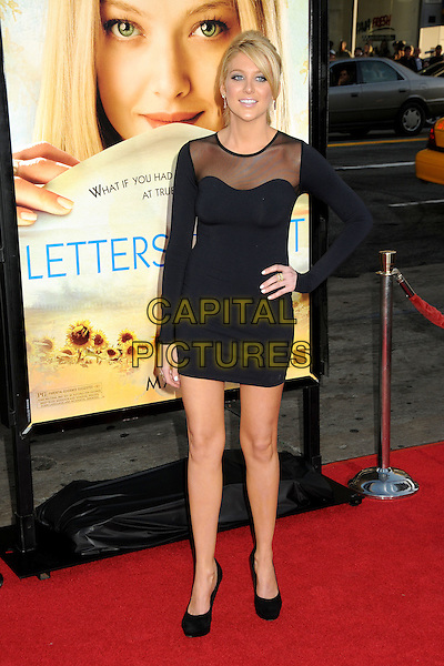 "STEPHANIE PRATT .Attending ""Letters To Juliet"" Los Angeles Premiere held at Grauman's Chinese Theatre, Hollywood, California , USA, .11th May 2010..arrivals full length black sheer mesh see thru through hand on hip dress long sleeved sleeve body con platform shoes .CAP/ADM/BP.©Byron Purvis/AdMedia/Capital Pictures."