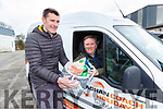 Oliver Kirwan Elite Events and Philip O'Callaghan O'Callaghan coaches who will be delivering groceries for elderly people through the next few weeks