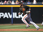 SF Giants&rsquo; Brandon Crawford plays in a spring training game against the Seattle Mariners in Peoria, Ariz., on Wednesday, March 16, 2016. <br />Photo by Cathleen Allison