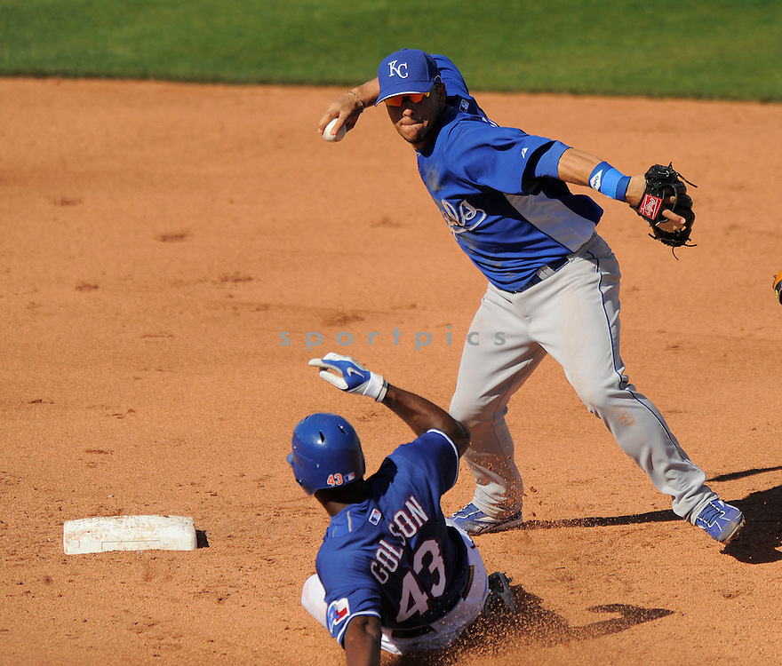 TONY PENA JR., of the Kansas City Royals, in action during the Royals game against the Texas Ranger on February 23, 2009 in Surprise, Arizona. The Rangers beat Royals 15-3