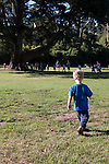Kids Outdoor Club, a year round program for young people, meets every week day in Speedway Meadow in Golden Gate Park.