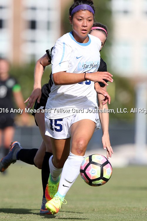 21 August 2016: North Carolina's Zoe Redei. The University of North Carolina Tar Heels hosted the University of North Carolina Charlotte 49ers in a 2016 NCAA Division I Women's Soccer match. UNC won the game 3-0