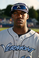 August 13, 2009:  Destin Hood of the Vermont Lake Monsters during a game at Dwyer Stadium in Batavia, NY.  The Lake Monsters are the Short-Season Class-A affiliate of the Washington Nationals.  Photo By Mike Janes/Four Seam Images
