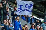 AMSTELVEEN - supporters Kampong.    finale Kampong MB1-Amsterdam MB1. AMSTERDAM MB1 wint de titel Meisjes B. finales A en B jeugd  Nederlands Kampioenschap.  COPYRIGHT KOEN SUYK