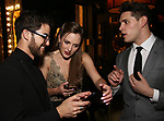 Darren Criss, Laura Osnes and Caser Cott attends the After Party for the Dramatists Guild Foundation toast to Stephen Schwartz with a 70th Birthday Celebration Concert at The Hudson Theatre on April 23, 2018 in New York City.