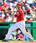 29 August 2010: Washington Nationals infielder Adam Kennedy in action against the St. Louis Cardinals at Nationals Park in Washington, DC. The Nationals defeated the Cards 4-2 to take the final game of their 4-game series. Mandatory Credit: Ed Wolfstein Photo