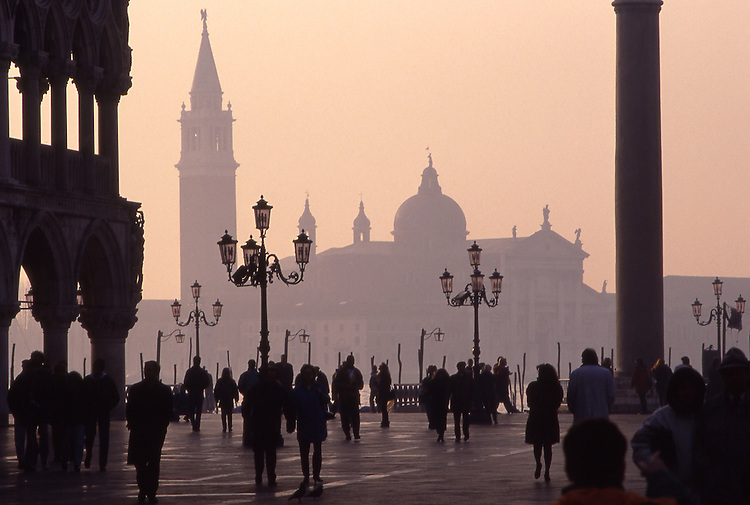 Europe, ITA, Italien, Venetien , Venice, Piazza San Marco, in the background church of San Giorgio Maggiore....[ For each utilisation of my images my General Terms and Conditions are mandatory. Usage only against use message and proof. Download of my General Terms and Conditions under http://www.image-box.com or ask for sending. A clearance before usage is necessary...Material is subject to royalties. Each utilisation of my images is subject to a fee in accordance to the present valid MFM-List...Contact | archive@image-box.com | www.image-box.com ]