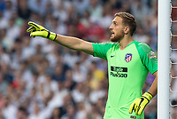 Jan Oblak of Atletico Madrid during the match between Real Madrid v Atletico Madrid of LaLiga, date 7, 2018-2019 season. Santiago Bernabéu Stadium. Madrid, Spain - 29 SEP 2018.