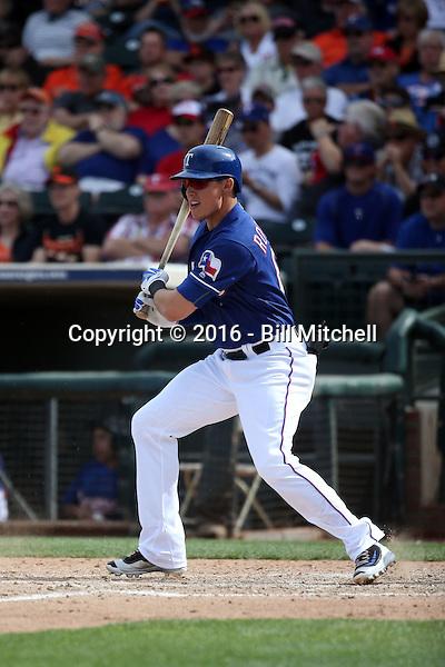 Drew Robinson - Texas Rangers 2016 spring training (Bill Mitchell)