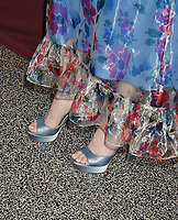 LOS ANGELES, CA - JUNE 08: Lily Collins (shoe detail) at the Les Misérables Photo Call at Linwood Dunn Theater on June 08, 2019 in Los Angeles, California.<br /> CAP/ROT/TM<br /> ©TM/ROT/Capital Pictures