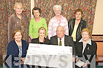 Members of Tralee Bridge club who raised EUR3,830 for Bru Columbanus, Cork, through Bridge games and walks,.Front Left to rifght Frances Sheehy, Anne Marie Lyons Bru Columbanus who accecped the cheque, Michael Bourke. Back Row From left Breda Murphy, Joan Dowling, Kitty Enright and Mary Harty.