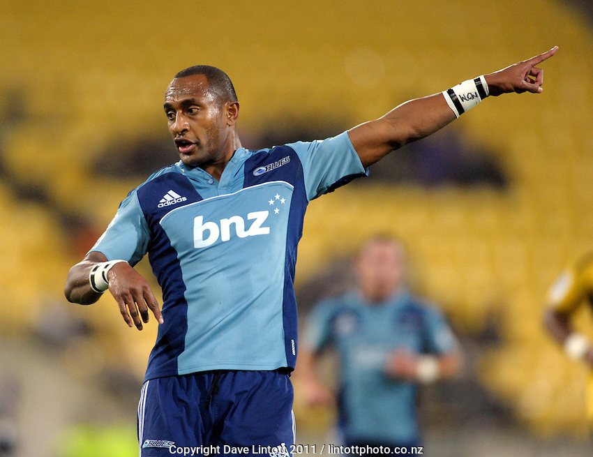 Blues winger Joe Rokocoko. Super 15 rugby match - Hurricanes v Blues at Westpac Stadium, Wellington, New Zealand on Friday, 30 April 2011. Photo: Dave Lintott / lintottphoto.co.nz