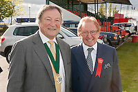 President of the Newark & Nottinghamshire Agricultural Society Mitch Stevenson OBE with Cedric Ford OBE