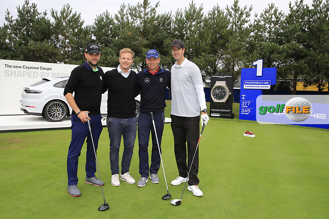 Marcel Siem (GER) team during the Pro-Am at the  Porsche European Open, Green Eagles Golf Club, Luhdorf, Winsen, Germany. 04/09/2019.<br /> Picture Fran Caffrey / Golffile.ie<br /> <br /> All photo usage must carry mandatory copyright credit (© Golffile | Fran Caffrey)