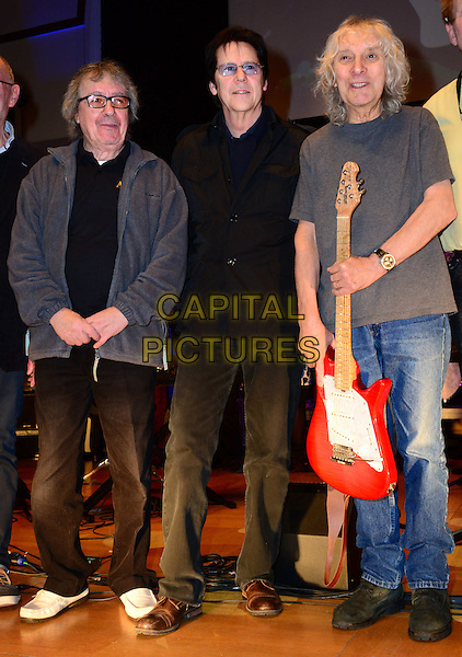 LONDON, ENGLAND - MARCH 1: (L-R) Bill Wyman, Shakin' Stevens, Albert Lee,  Joe Brown, Gary U.S. Bonds attend photocall ahead of performance to mark Grammy award winning guitarist Albert Lee&rsquo;s 50 year career and his 70th birthday (December 21, 2013) at Cadogan Hall, 5 Sloane Terrace, on March 1, 2014, in London, England.<br /> CAP/JOR<br /> &copy;Nils Jorgensen/Capital Pictures