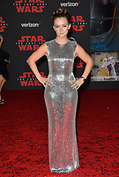 Billie Lourd at the world premiere for &quot;Star Wars: The Last Jedi&quot; at the Shrine Auditorium. Los Angeles, USA 09 December  2017<br /> Picture: Paul Smith/Featureflash/SilverHub 0208 004 5359 sales@silverhubmedia.com