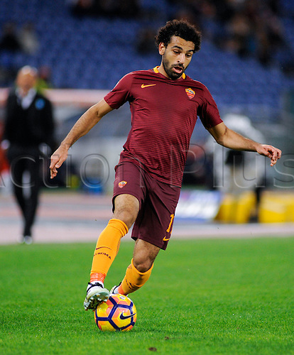 06.11.2016. Stadium Olimpico, Rome, Italy.  Serie A football league. AS Roma versus Bologna. Mohamed Salah in action
