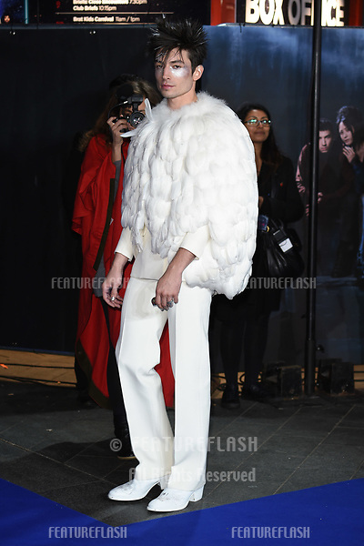 "LONDON, UK. November 13, 2018: Ezra Miller at the ""Fantastic Beasts: The Crimes of Grindelwald"" premiere, Leicester Square, London.<br /> Picture: Steve Vas/Featureflash"