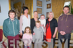 Baby Elsie Mai Norgrove with her mother Stacey who was christened at St. Mary's Church, Listowel by Canon Declan O'Connor on Sunday last and afterwards at the Listowel Arms Hotel. L- R: Luke Norgrove, Maura O'Connor, Lucey Norgrove, Stacey with Elsie Mai Norgrove, Alex Norgrove, Angela & Jonathan Norgrove.