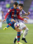 Real Valladolid's Jose Arnaiz (r) and Levante UD's Rober Pier during La Liga Second Division match. March 11,2017. (ALTERPHOTOS/Acero)